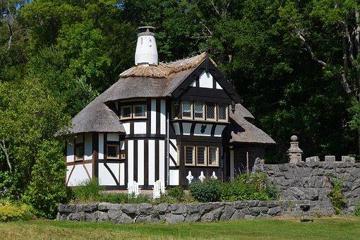 Gatehouse, Forest, Truss, Wall, Fachwerkhaus, Nostalgia