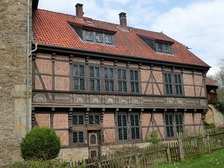 Weser, Weser Uplands, Fachwerkhaus, Schaumburg