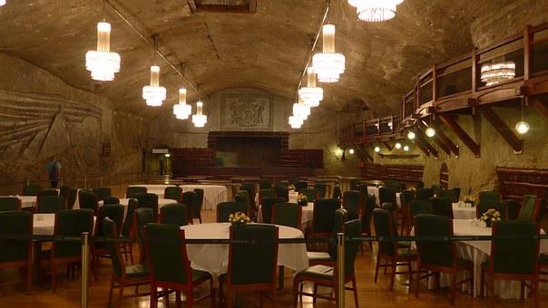 Wieliczka, Poland, Salt Mine, Subterranean Restaurant