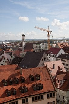 Bird's Eye View, Church, Building, Architecture, Ulm