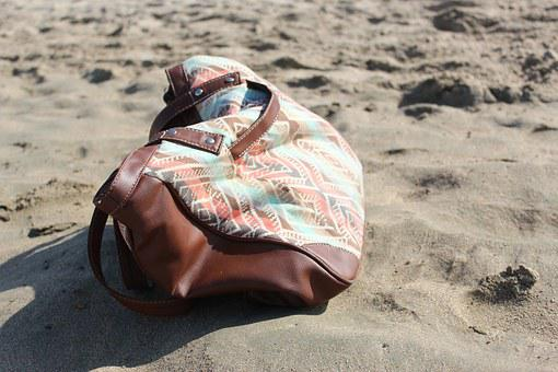 Beach, Bag, Lost, Forgotten, Holiday, Sand