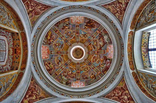 Dome, Ceiling, Cathedral, Ornamental, Church, Pattern
