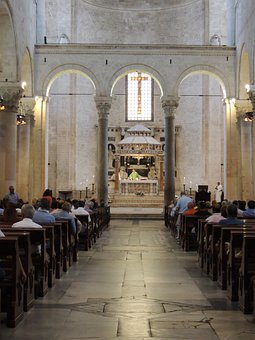 Bari, Italy, Church, Within, Pastor, Faith