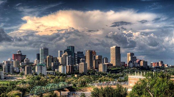 Edmonton, Canada, City, Cites, Urban, Buildings