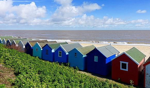 Beach House, Huts, Seaside, Colorful, Traditional