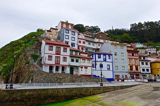 Seaside Village, Colourful, Houses, Streetscape
