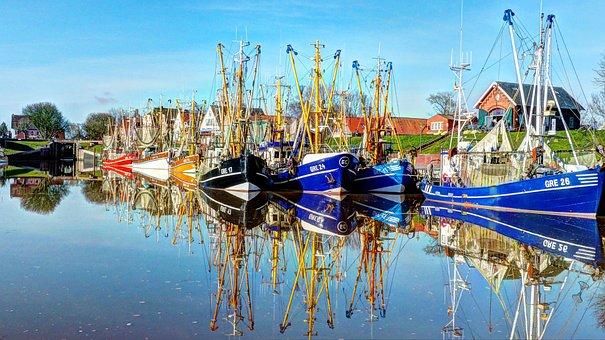 Greetsiel, Krummhörn, North Sea, Cutter Fleet