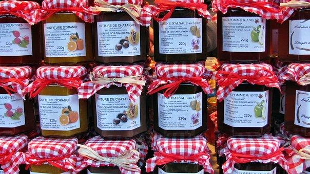 Jam, Jam Jars, Sweet, Homemade, Fruits, Glasses, Spread