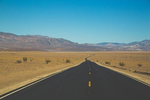 Barren, Desert, Highway, Landscape, Mountains, Nature