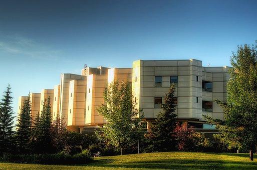 Hospital, Edmonton, Canada, Medical Center, Building