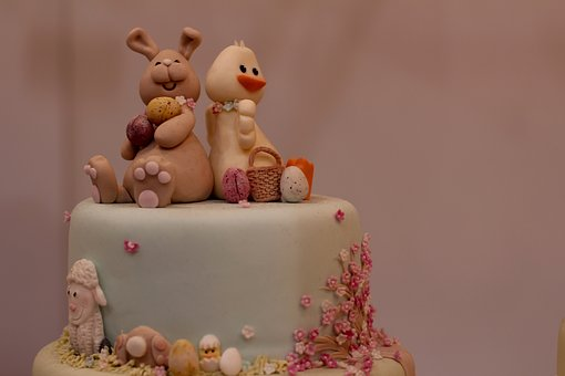 Easter Cake, Marzipan, Kids Birthday Cake, Cake