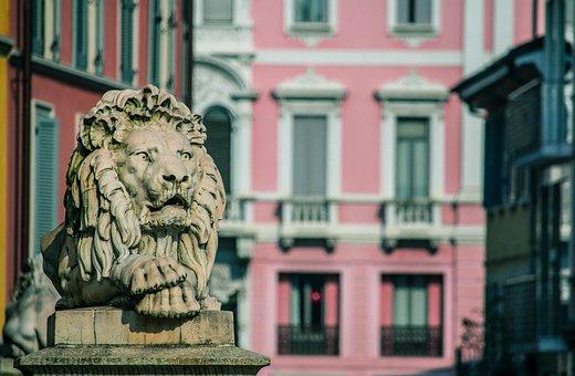 Monza, Leo, Statue, Monument, Sculpture