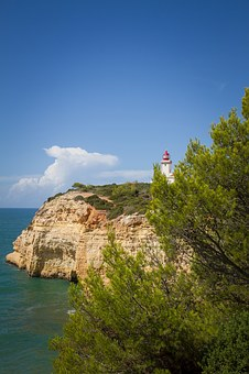 Lighthouse, Portugal, Coast, Algarve, Sea, Atlantic