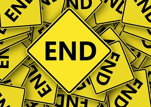 Road Sign, End, Dead End, Hopeless, Final, Finish, Off