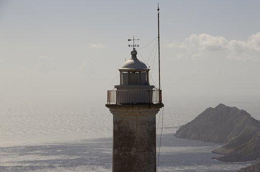 Lighthouse, Sea, Ocean, Sky, Travel, Blue, Coast