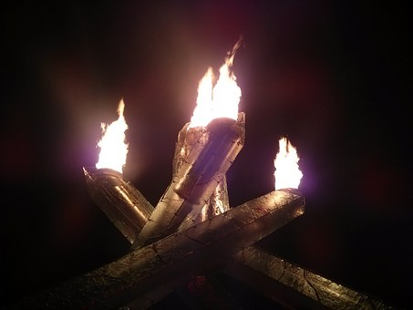 Olympics, Vancouver, Torch, Flame, Cauldron