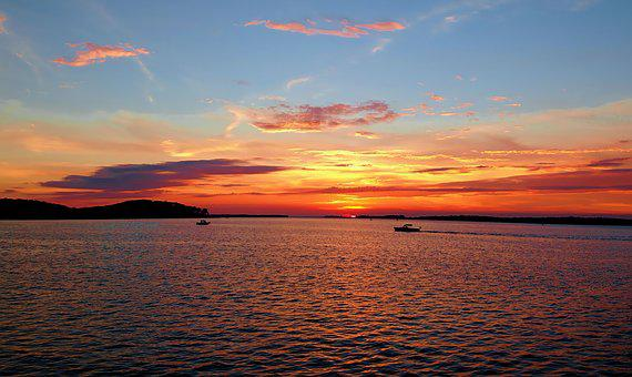 Sunset, Upstate New York, 1000 Island Region