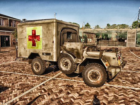 Ambulance, Old, Classic, Vintage, Truck, Vehicle