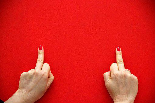 Middle Finger, Red, Background, Wallpaper, Hands, Wall