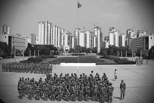 Military Training, Campus, Freshman, Building, Flats
