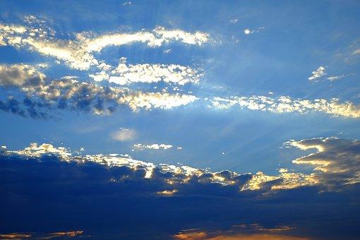 Sunbeam, Sun, Sky, Clouds, Nature, Light, Light Effect