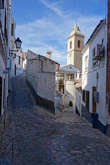 Lane, Narrow, Cobblestones, Alcala Del Jucar, Village