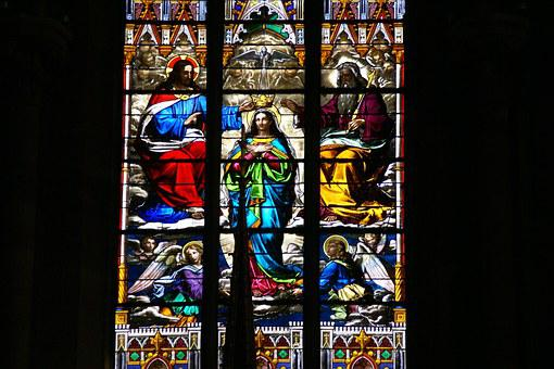 Stained Glass, Window, Church, Pattern, Colorful