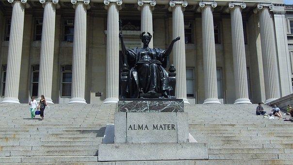 Columbia University, Statue, New York, Campus, College