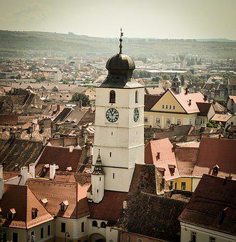 Tower, Council, Sibiu, Building, Town, Architecture