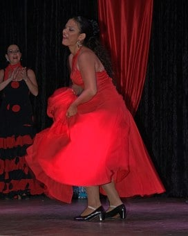 Dancers, Woman, Red, Shoes, Dance, High Heeled Shoes