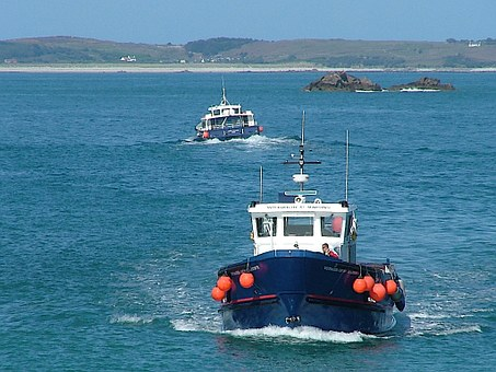 Ferry, Fishing Boats, Scilly Isles, Cornwall, Water