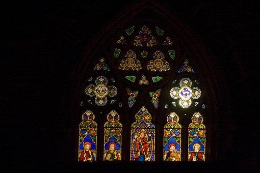 Church, Window, Vitrail, Glass, Gothic, Windows, Arches