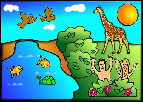 Creation, Adam, Eve, Religion, Complete, God, Hand