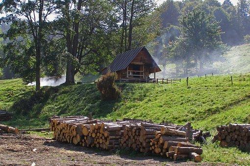Hut, Cottage, Mountains, Shepherd's Hut, Wood, Smoke