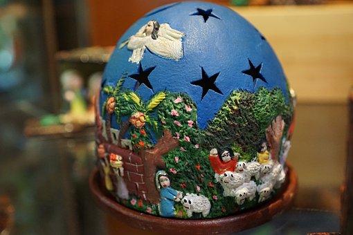 Birth, Christmas, Figure, Jesus, Star, Sky, Light
