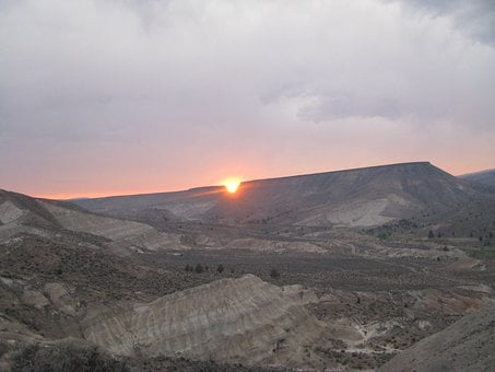 Devils Bite, Sunset, John Day, Fossil Beds