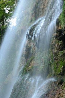 Waterfall, Urach Waterfall, Long Exposure, Water Veil