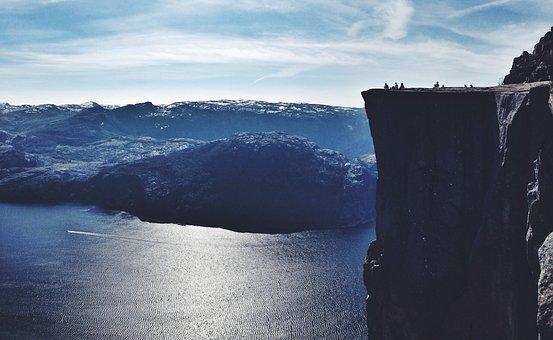 Nature, Outdoor, Travel, Norway, Fjord, Massive, Rock