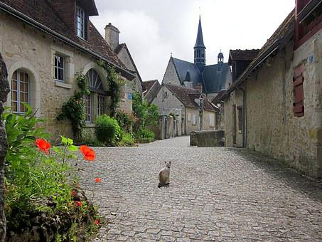 Montrésor, Village, Loire, France, Old, French
