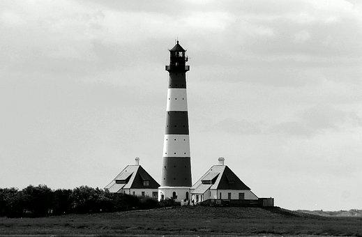 Lighthouse, Westerhever, North Sea, Nordfriesland