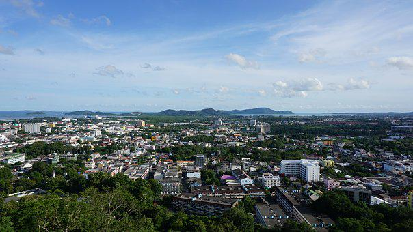Phuket Town, Overlooking The, Phuket, View Punta