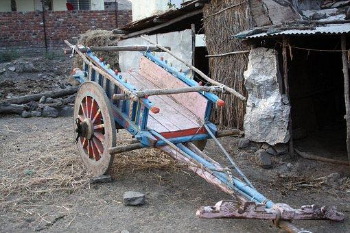 Cart, Ox Cart, Bullock Cart, Transportation