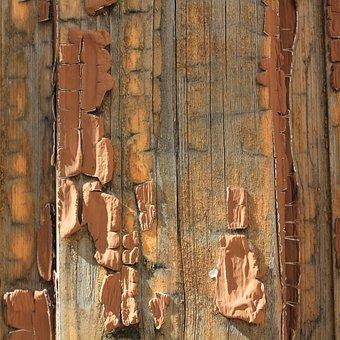 Wood, Texture, Peeling, Paint, Old, Panel, Board, Rough