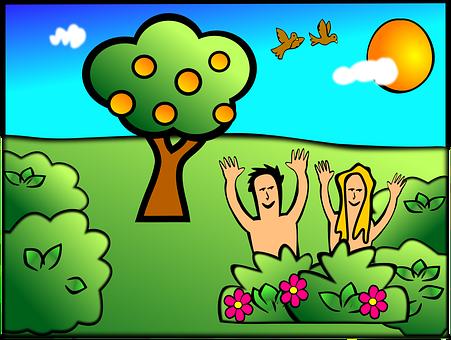 Paradise, Eden, Adam And Eve, Christian, Bible, People