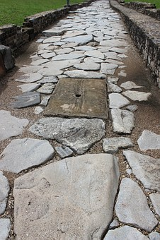Antique, Rome, Pavers, Sewer, Roadway, Vestige