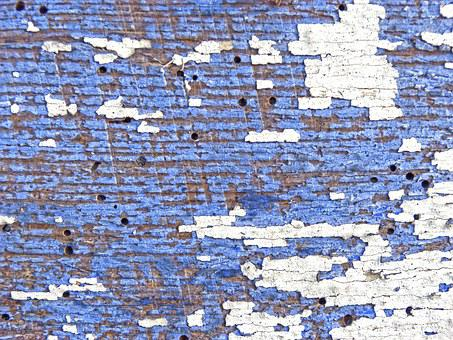 Wood, Old, Worn, Woodworm, Peeling Paint, Background