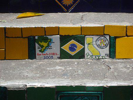 Brazil, Rio De Janeiro, Steps, Architecture, Building