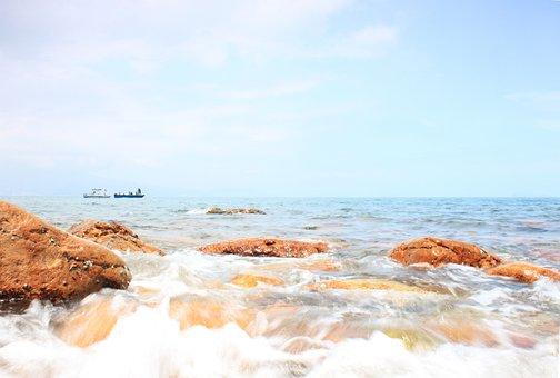 Sea Water, Beach, High Tide