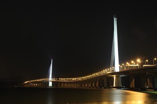 The Night, Bridge, Shenzhen Bay Bridge
