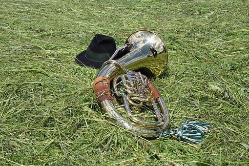 Horn, Tuba, Music, Blowers, Gloss, Shine, Orchestra